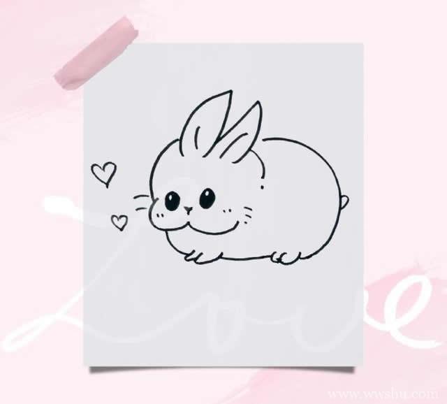 一组简单好上手的简笔画小动物,大家一起画起来吧~