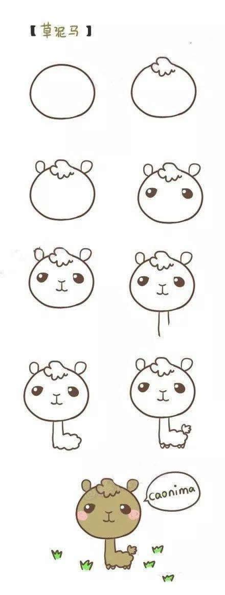 各种简单易学的卡通动物简笔画画法