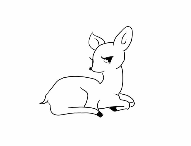 小鹿简笔画图片素材