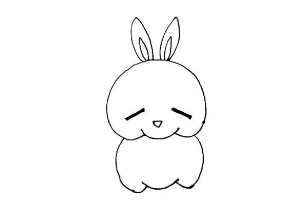 流氓兔简笔画图文教程 彩色版画法